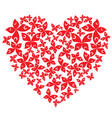 butterfly hearts vector image