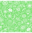 Spring seamless pattern with spring flowers vector image
