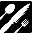 Fork knife tablespoon sign icon Flat design vector image