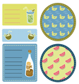 Beach collection of labels vector image
