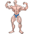 Bodybuilder pose vector image
