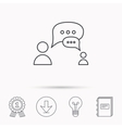 Dialog icon Chat speech bubbles sign vector image