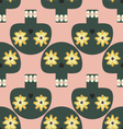 Funny seamless pattern with cute skulls vector image