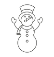 merry christmas snowman character vector image