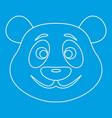 Panda bear icon outline style vector image