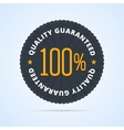Quality guaranteed badge vector image