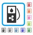 ripple gas station framed icon vector image