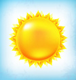 Vintage Sun With Sky vector image
