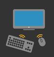 Wireless computer equipment vector image