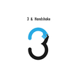 Creative 3- number icon abstract logo design vector image