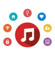 music note internet app multimedia element vector image