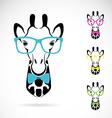 Giraffe glasses vector image vector image
