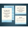 set of wedding invitation card with watercolor vector image