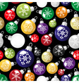 shiny christmas decoration with snowflake seamless vector image