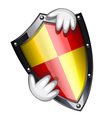 security shield vector image vector image