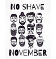 No Shave November set vector image