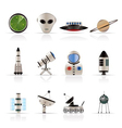 astronautics and space icons vector image