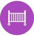 Baby Cot vector image
