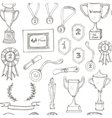 seamless pattern with decorative sketch Award vector image