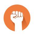 raised fist vector image