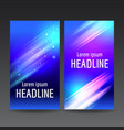 abstract business flyer templates vector image