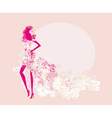 abstract spring girl silhouette vector image