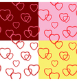 background with hearts for valentine day - set vector image