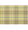 Beige check seamless fabric texture vector image