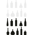 cartoon set of wine bottles vector image