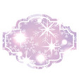 decorative christmas label bright snowflake vector image