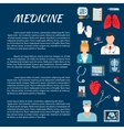 Healthcare design template with medical icons vector image