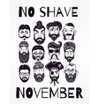 No Shave November set vector image