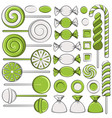 set of color with mint candies vector image