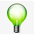 Green light bulb icon isolated on white vector image