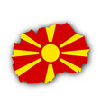 map and flag of macedonia vector image