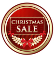 Christmas Sale Gold Label vector image