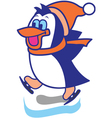 Penguin Ice Skate vector image