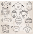 Vintage Frames and Design Elements vector image vector image