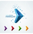 Abstract triangular arrow logo vector image