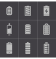 black battery icons set vector image