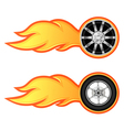 car and motorcycle wheel vector image