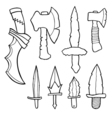 Edged weapons set vector image
