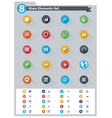 Flat statistic elements icon set vector image