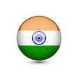 india flag glossy button vector image