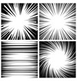 manga speed lines set grunge ray vector image
