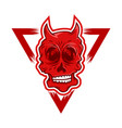 red devil skull vector image