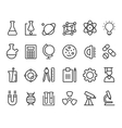 Trendy science icons on white elements vector image