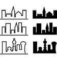 city evolution vector image vector image