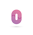 Number 0 logo icon design template elements vector image