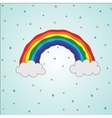 bright colorful rainbow in vector image